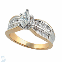 2721 0.89 Ctw Bridal Engagement Ring