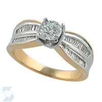 2785 0.89 Ctw Bridal Engagement Ring