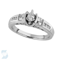 03250 0.23 Ctw Bridal Engagement Ring