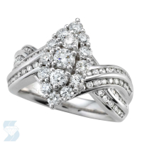 4668 1.59 Ctw Bridal Multi Stone Center