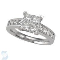 4759 2.13 Ctw Bridal Multi Stone Center