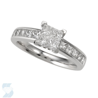 4762 1.45 Ctw Bridal Multi Stone Center