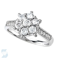 5130 0.96 Ctw Bridal Multi Stone Center