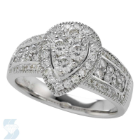 5363 0.95 Ctw Bridal Multi Stone Center