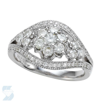 5375 0.87 Ctw Bridal Multi Stone Center