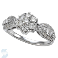 5386 0.80 Ctw Bridal Multi Stone Center