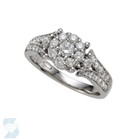 05966 0.76 Ctw Bridal Multi Stone Center