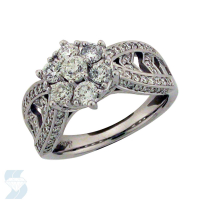 5986 1.46 Ctw Bridal Multi Stone Center