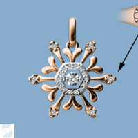 6809 0.09 Ctw Fashion Pendant