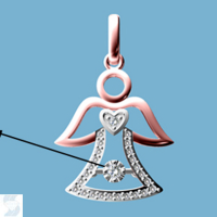 6817 0.10 Ctw Fashion Pendant