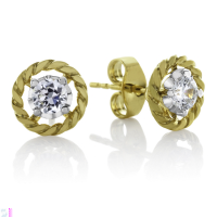 06847 0.40 Ctw Fashion Earring