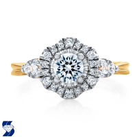 6876 0.97 Ctw Bridal Engagement Ring