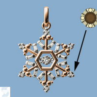 6882 0.10 Ctw Fashion Pendant